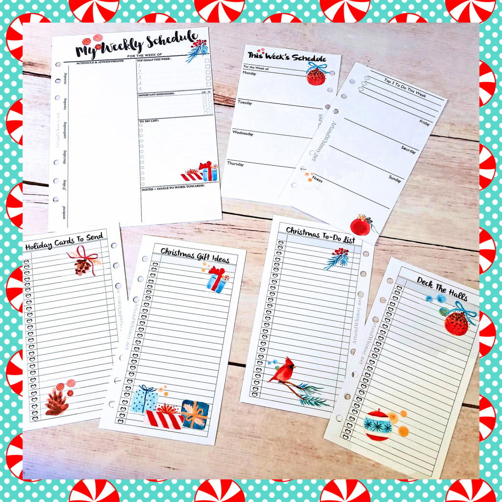 Christmas Planner Free Printables - The Scrap Shoppe