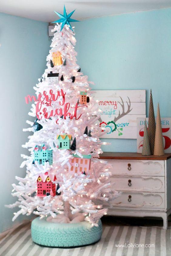 bright christmas tree trendy