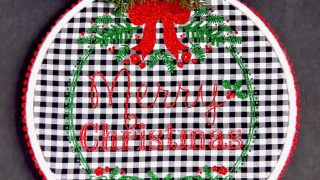 Merry Christmas Embroidery Hoop