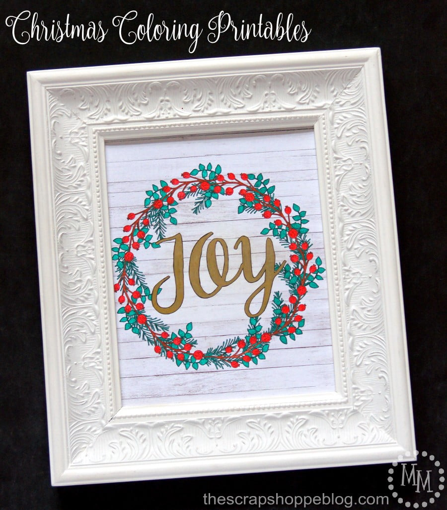 Christmas Coloring Printables - The Scrap Shoppe
