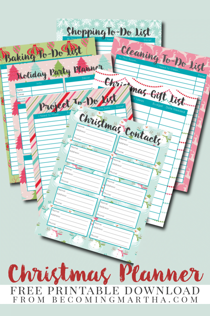 Smart image with regard to christmas planner printable