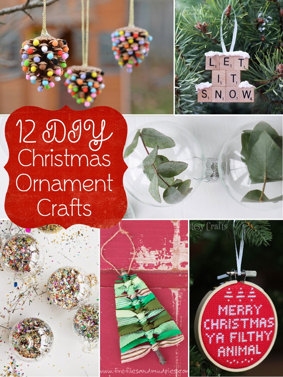 12 Diy Christmas Ornament Crafts The Scrap Shoppe