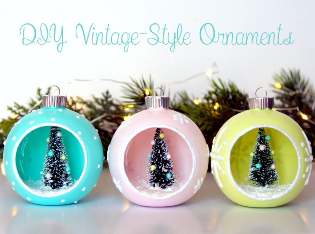 Diy vintage style ornaments the scrap shoppe for Christmas decorations near me