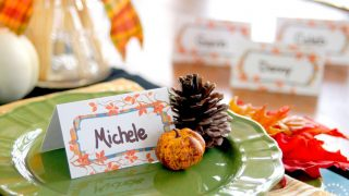 Perfectly Plaid Thanksgiving Place Cards