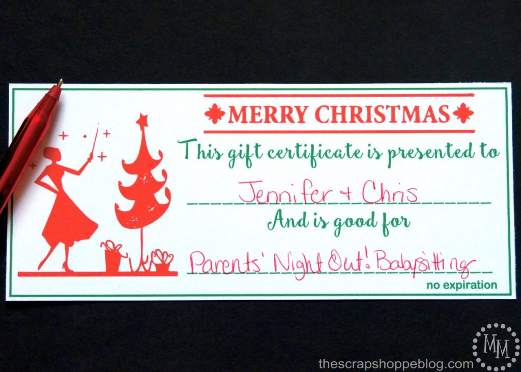 These chic printable Christmas gift certificates are a great last minute gift idea!