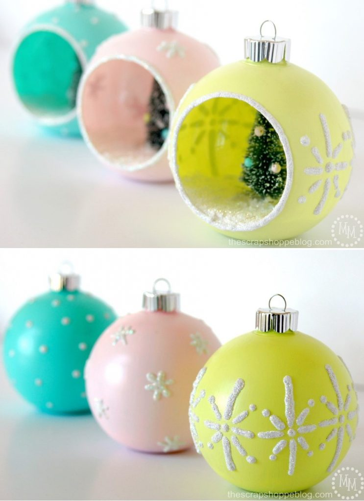 If you love the look of vintage Christmas ornaments but can't find any around, try making them yourself!