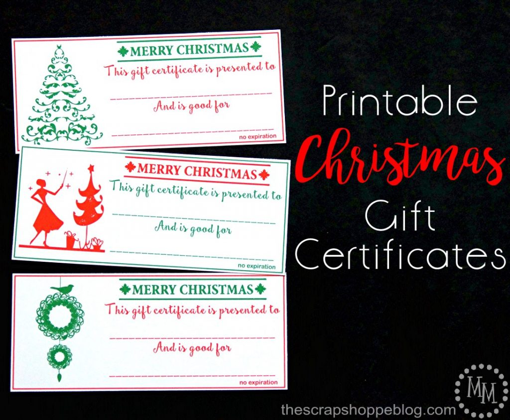 Scentsy gift certificate images any certificate example ideas spreading christmas cheer the scrap shoppe these chic printable christmas gift certificates are a great last alramifo Gallery