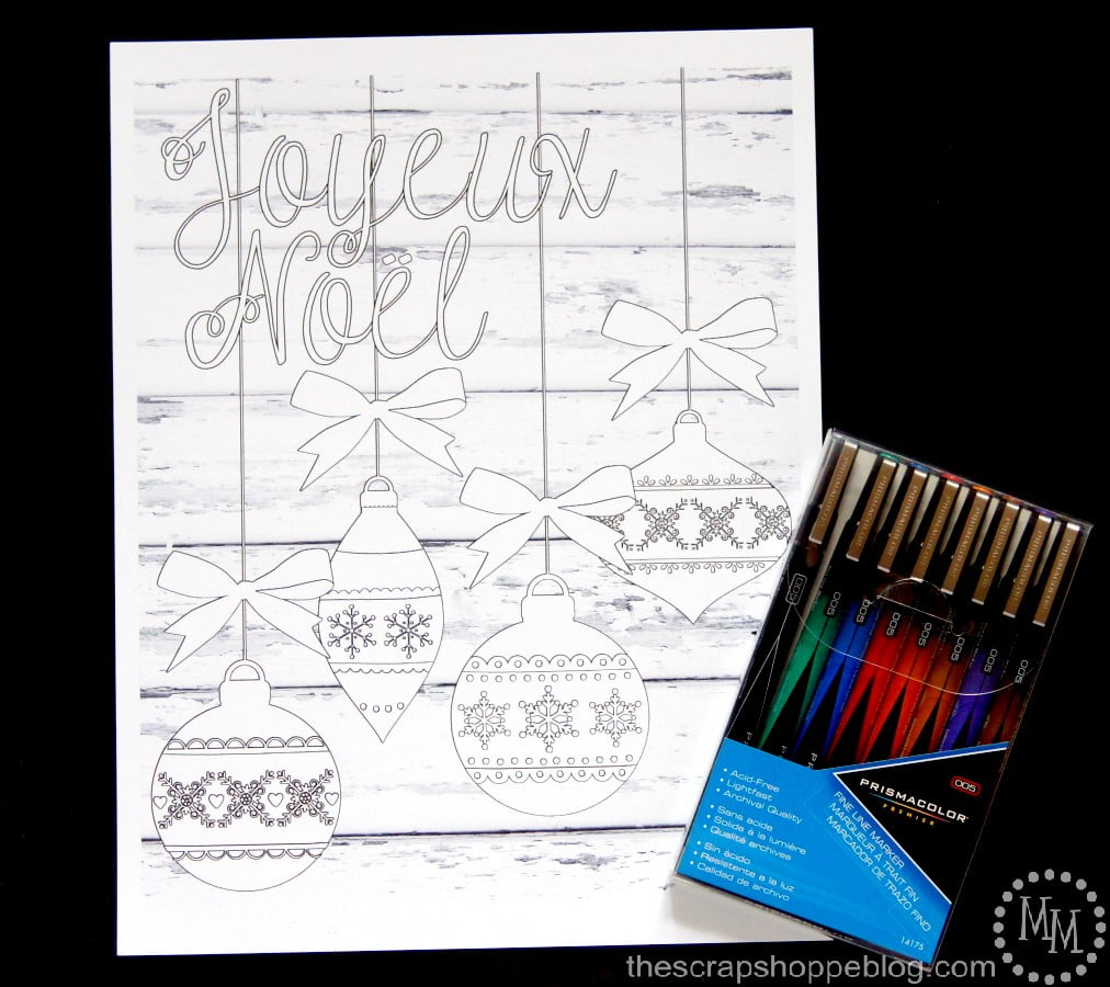 These FREE Christmas coloring printables can be framed and used as wall art when complete!