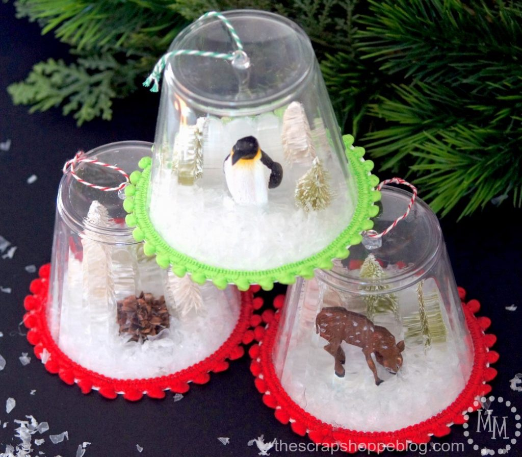 Snow Globe Ornaments - The Scrap Shoppe
