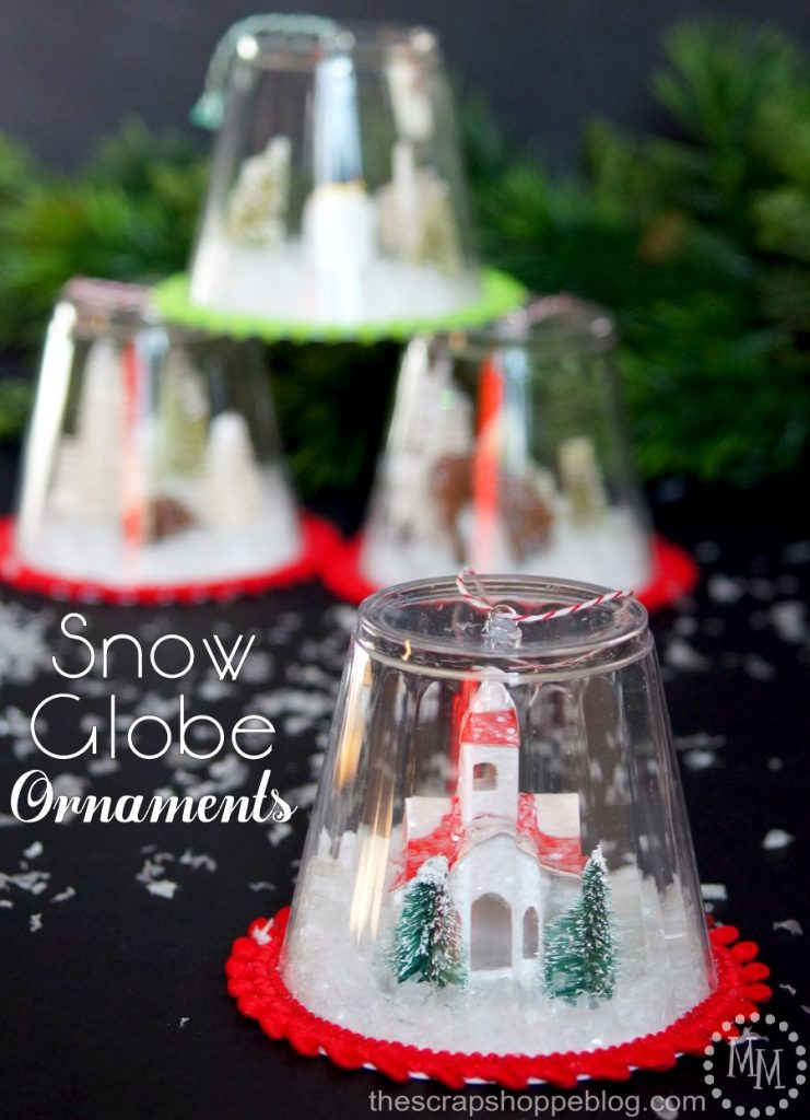 These DIY snow globe ornaments are a fun kid craft and be filled with just about anything!
