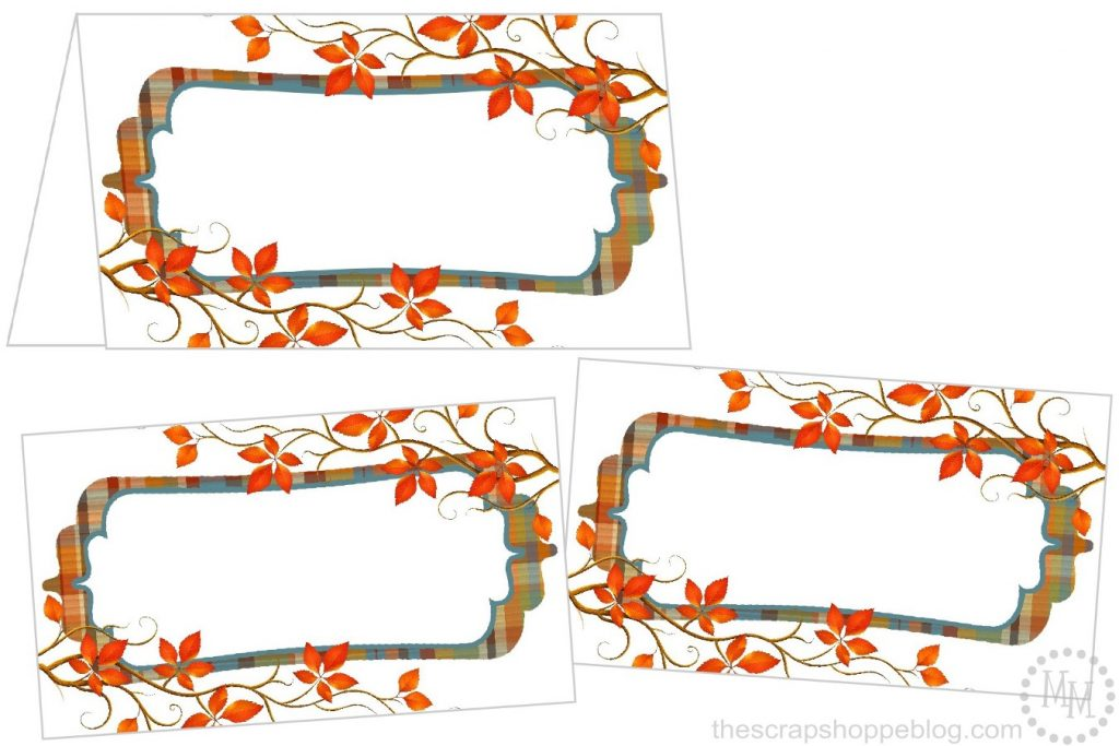 Print Your Own Fall Themed Thanksgiving Place Cards With This Free Printable