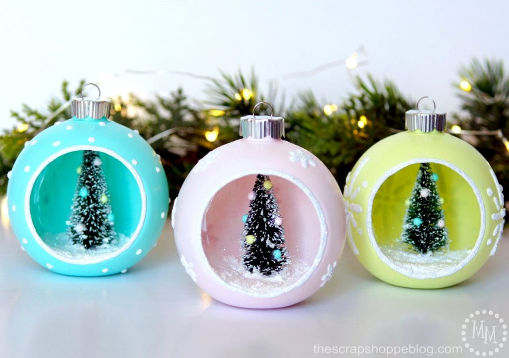 Diy vintage style ornaments the scrap shoppe for What to do with old christmas ornaments