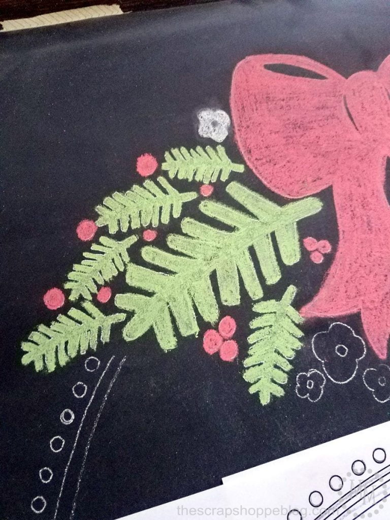 Blow up your favorite Silhouette image, print it out, piece it together, and trace it to create stunning chalkboard art!