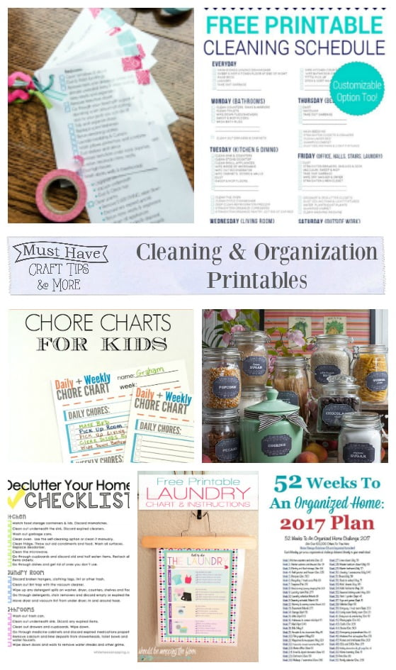 Keep your home clean and organized with the help of these free printables!