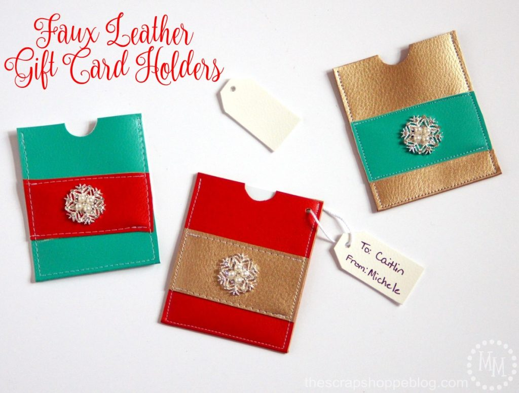 These faux leather gift card holders are a perfectly sweet way to dress up an otherwise simple gift.