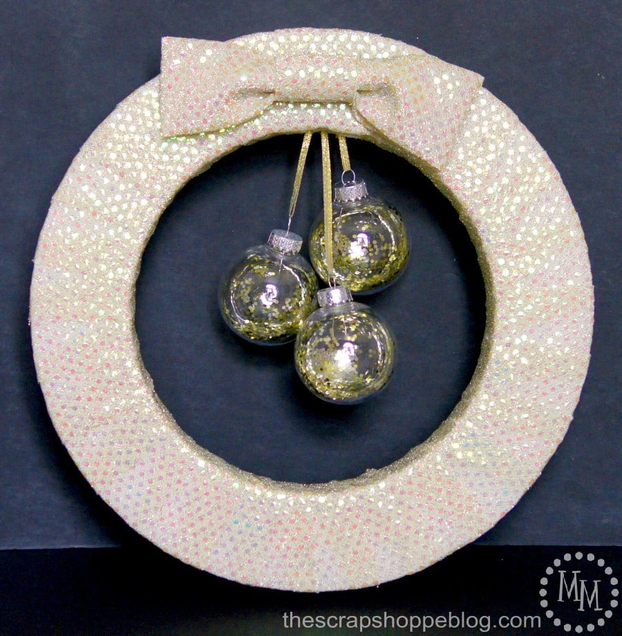 Go glam on New Year's with a festive and glitzy wreath!