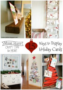 Crafty ways to display holiday cards!
