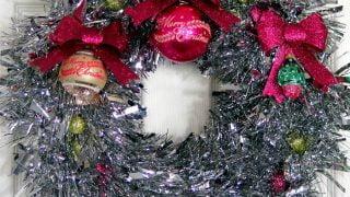 Vintage Tinsel Wreath