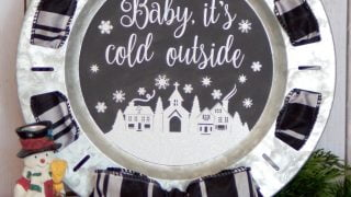Winter Chalkboard Platter