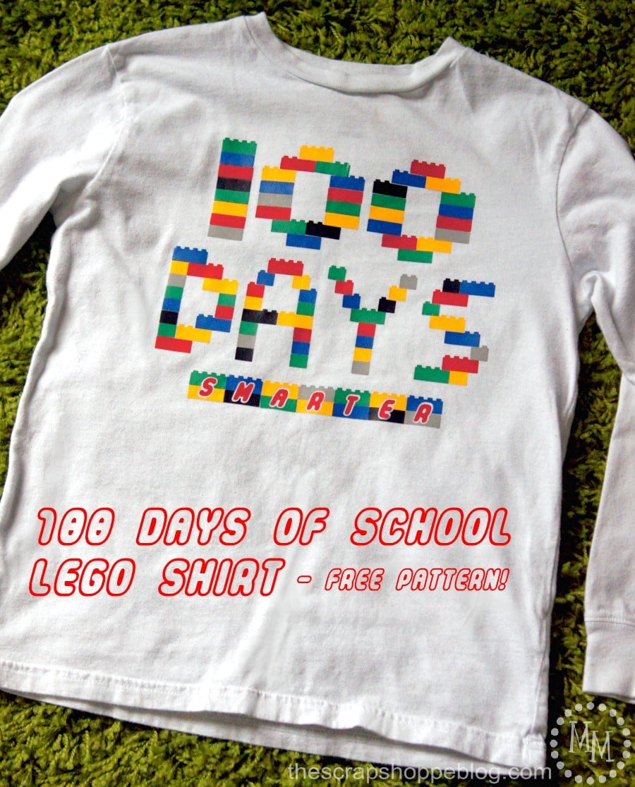 100 Days of School LEGO Shirt - FREE Pattern!