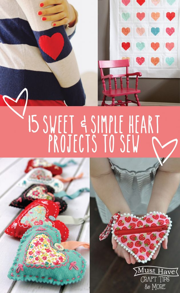 Sneak some sweet hearts into your sewing projects!