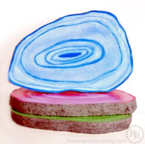 Faux Agate Slices