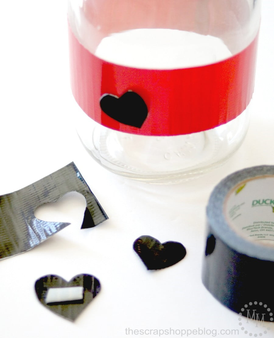 Mason Jar Valentines with Duct Tape - The Scrap Shoppe
