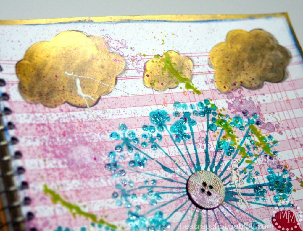 Turn a plain, boring notebook cover into something inspiring with Mixed Media!