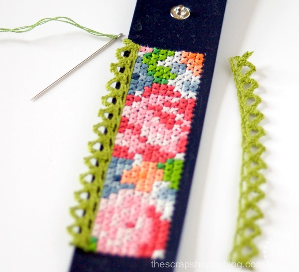 FREE cross-stitch patterns to make your own fashionable leather cuff bracelets!