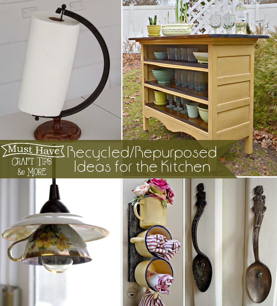 Repurpose and/or upcycle items to use in the kitchen!