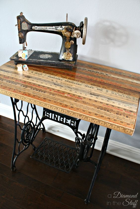 upcycled sewing table