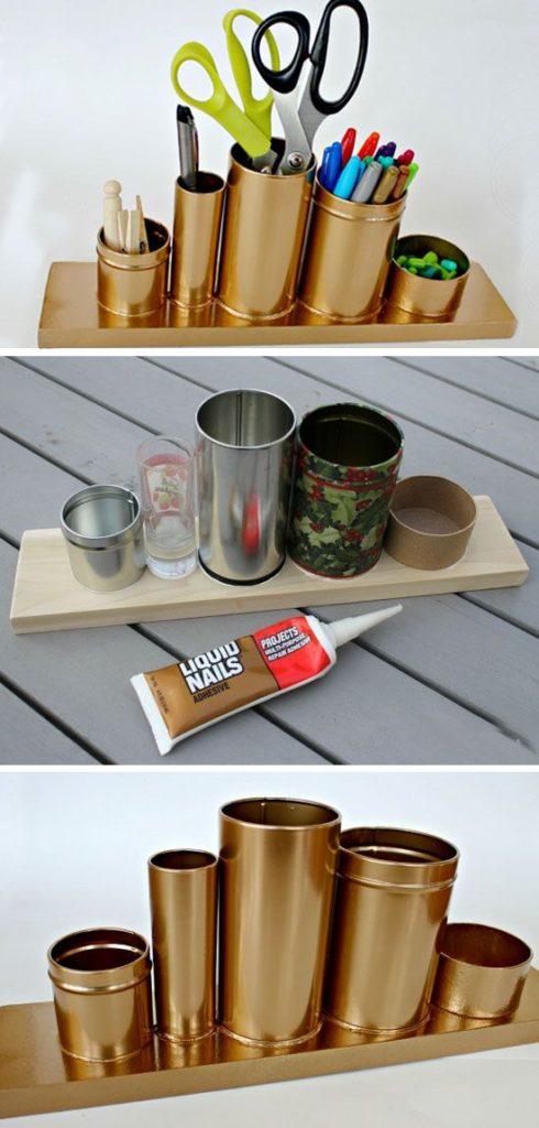 repurposed storage tins