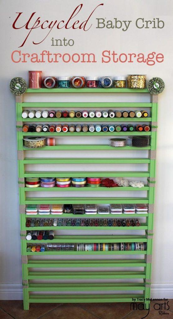 baby crib craft storage