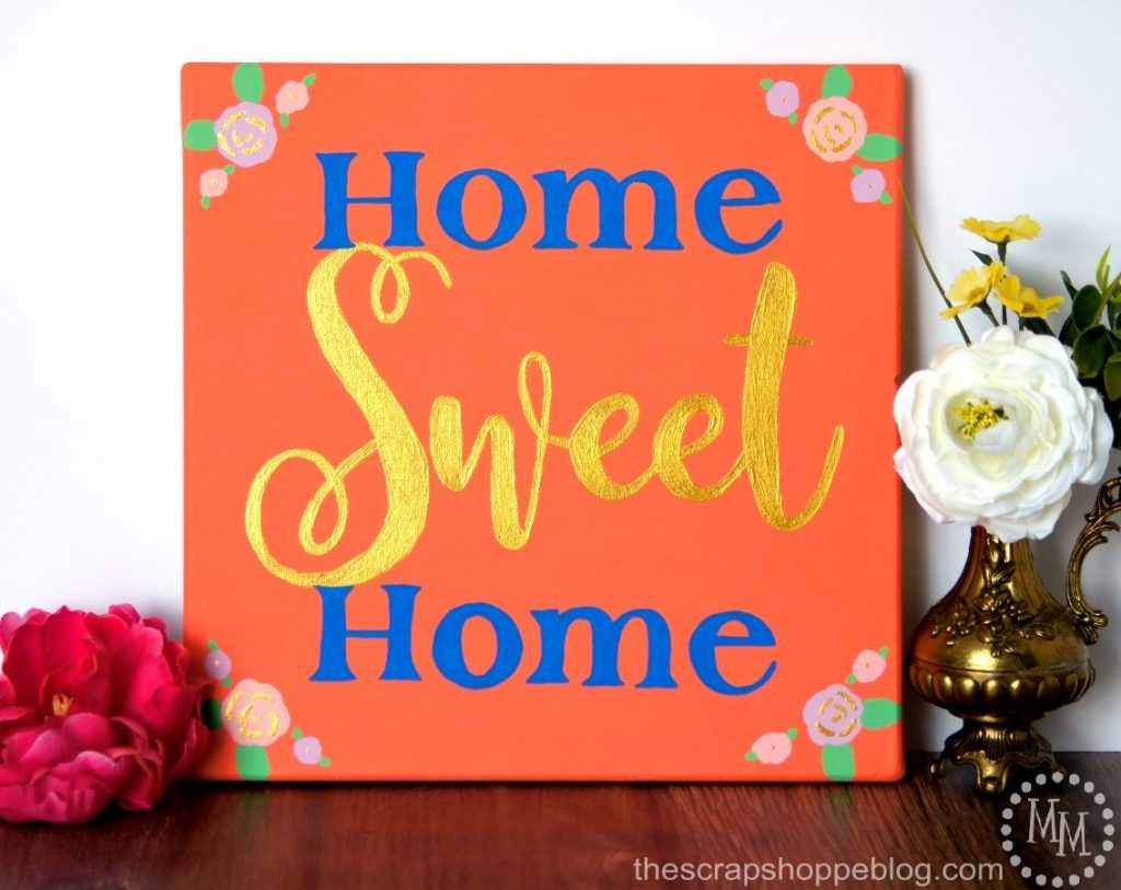 Paint a sweet sign for your home with a pop of shine!