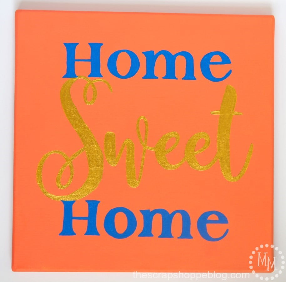 home sweet home sign the scrap shoppe. Black Bedroom Furniture Sets. Home Design Ideas