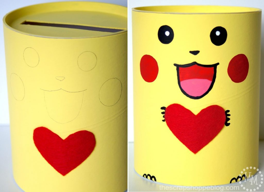 Pokemon Pikachu Valentine Box The Scrap Shoppe