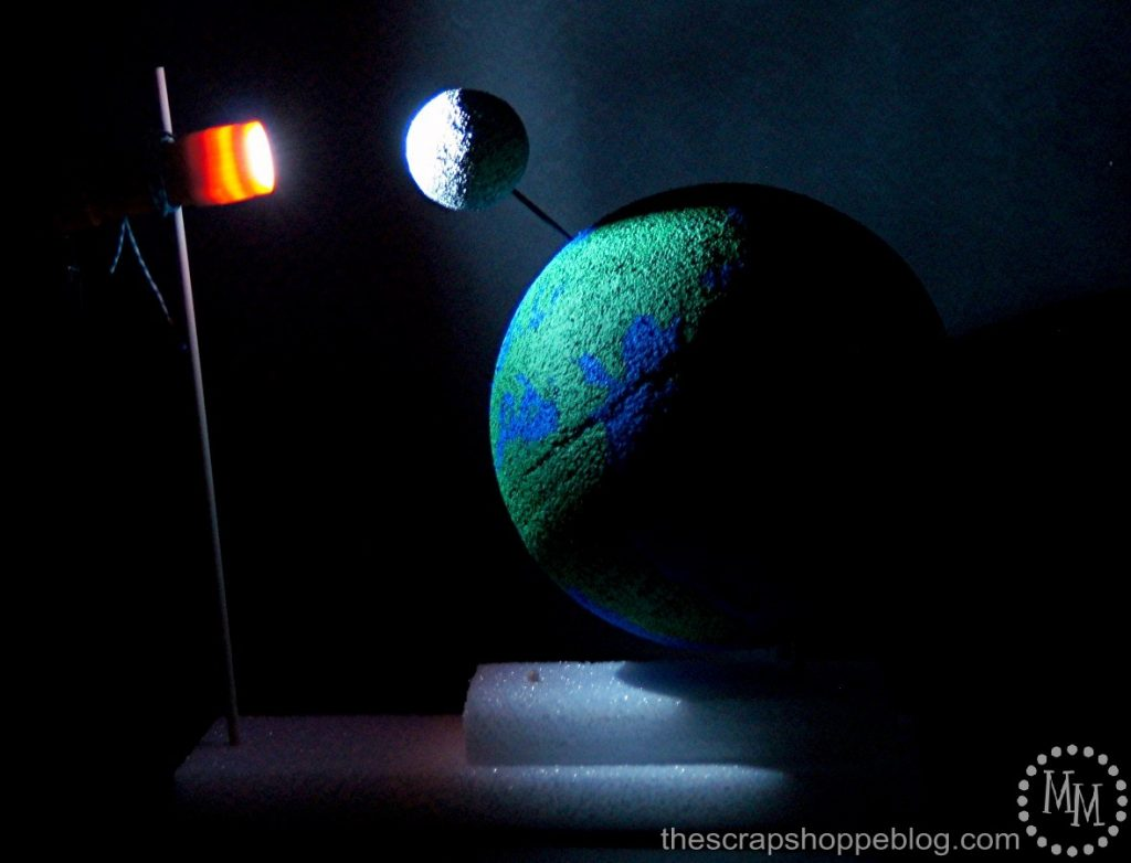 Looking for a science fair project? This moon phases experiment is a fun one to pull together!