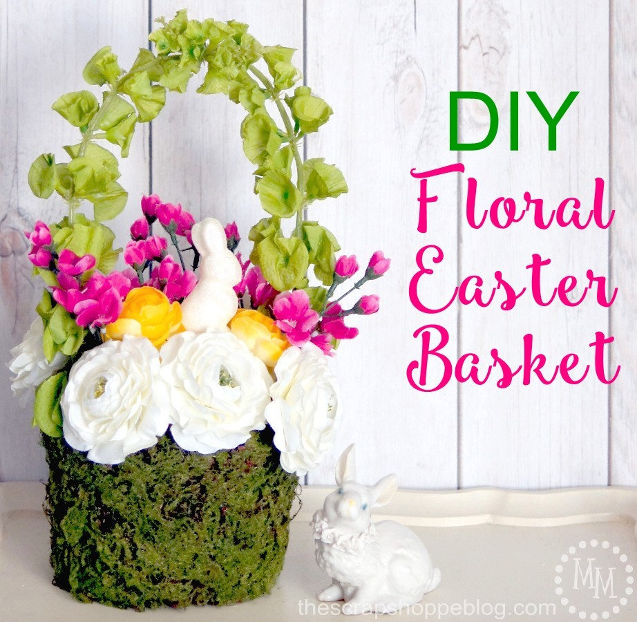 This DIY floral basket is the perfect spring home decor and doubles as an adorable basket for Easter!