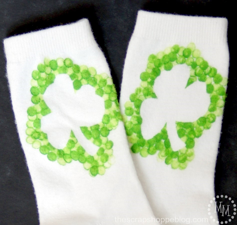 Don't get pinched this St. Patrick's Day. Make yourself a pair of festive shamrock socks!