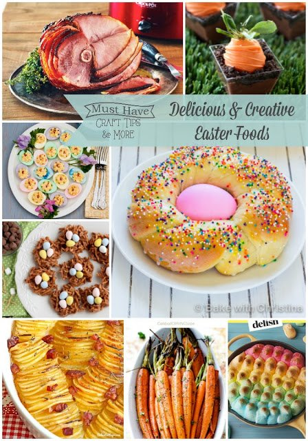 Treat your Easter guests to a spectacular lunch (or dinner!) with these delicious and creative Easter food ideas!