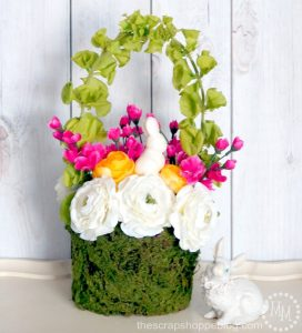 DIY Floral Easter Basket