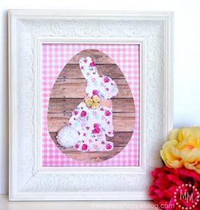 Framed Paper Bunny
