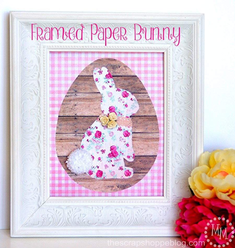 All it takes is some pretty paper to create a beautiful framed masterpiece this Easter!