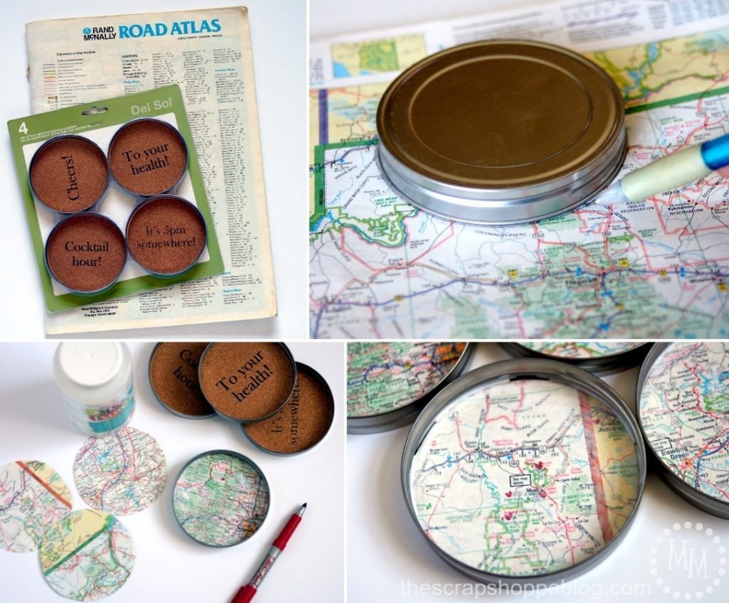 Memorialize those special vacations by creating map coasters of all your favorite trips!