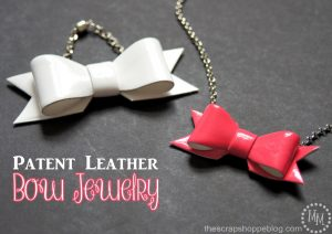 Make your own Patent Leather jewelry and accessories with this new Patent Leather paint!