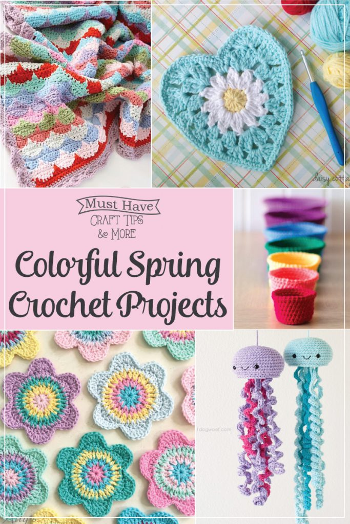 Colorful spring crochet projects!