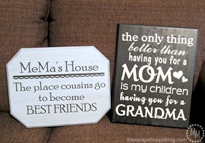 DIY a cute sign for Grandma for Mother's Day or Christmas! Great gift idea!