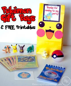 These printable Pikachu faces instantly make any gift bag more fun! Perfect for Pokémon birthday parties!
