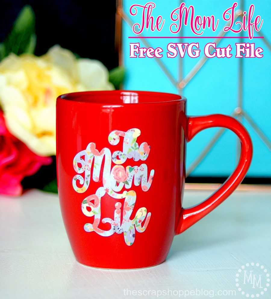 Make mom a new mug for Mother's Day using this cute floral file for printable adhesive vinyl!