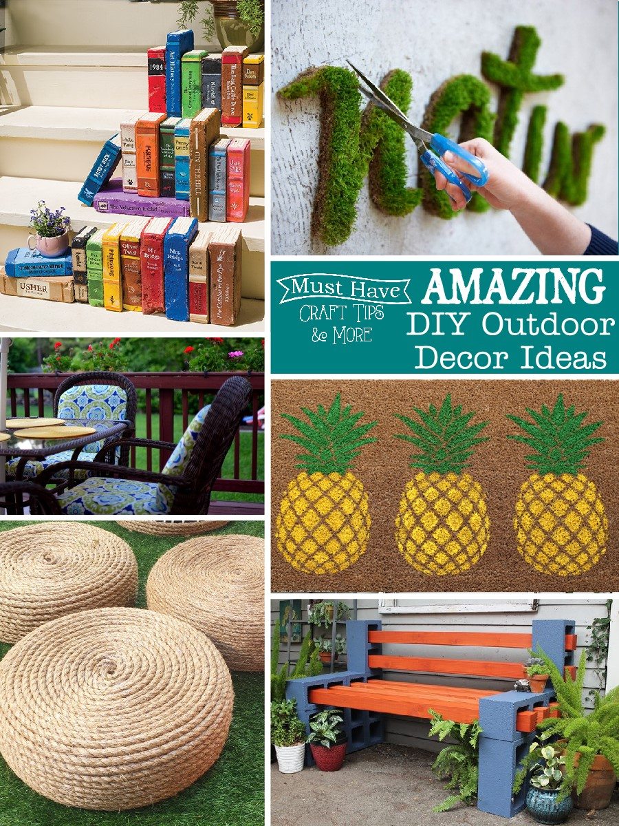 Amazing diy outdoor decor ideas the scrap shoppe - Diy garden decoration ideas ...